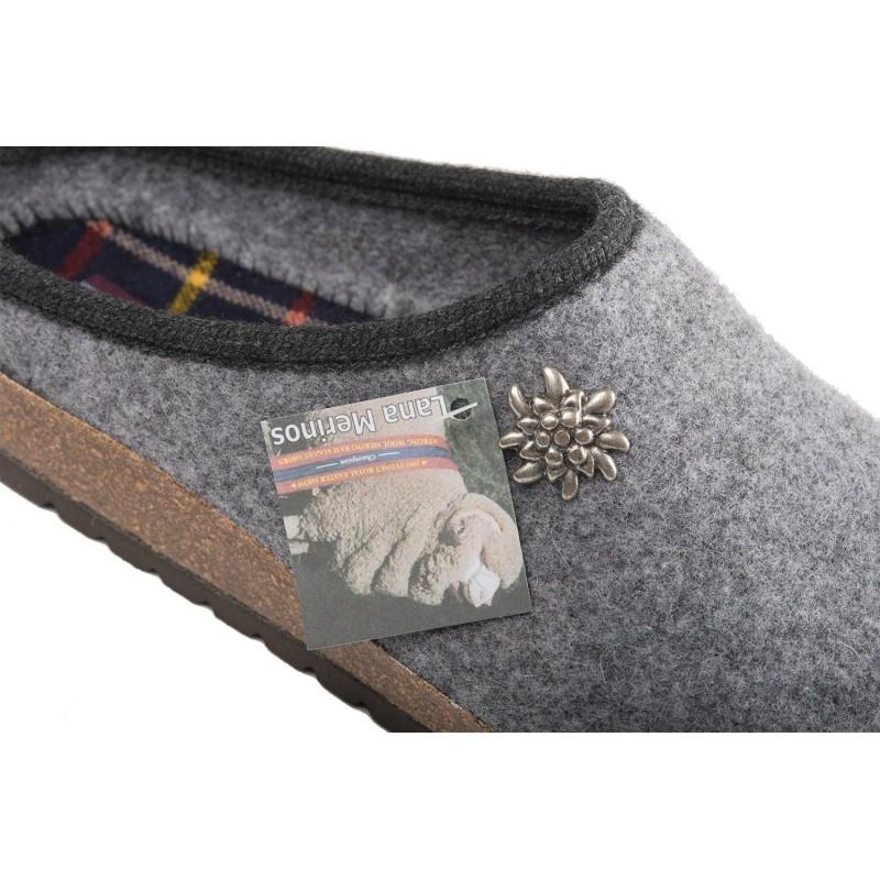 Pantofole Ciabatte tirolesi grigie Innsbruck 0f5e68a8eab