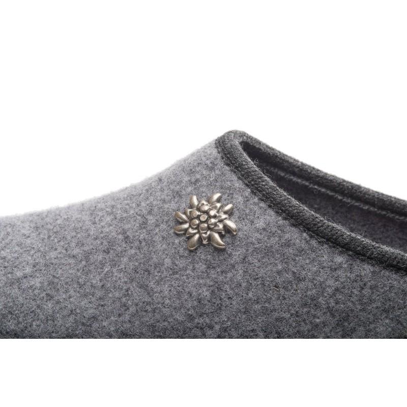 Pantofole Ciabatte tirolesi  grigie Innsbruck